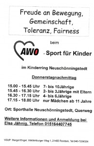 Kindersport Neuschönningstedt